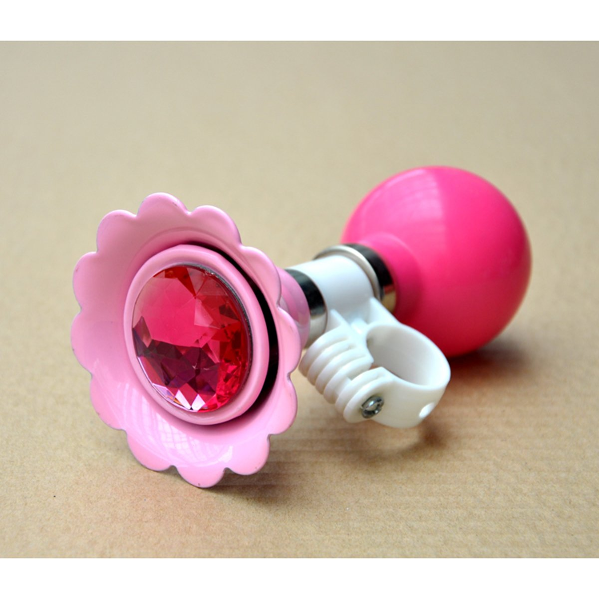VORCOOL Kids Bike Girl's Bicycle Bells Air Horn Bell Flower Shaped Kids Bike Bicycle Cycling Bell Handlebar Ring Ringer Horn (Pink)