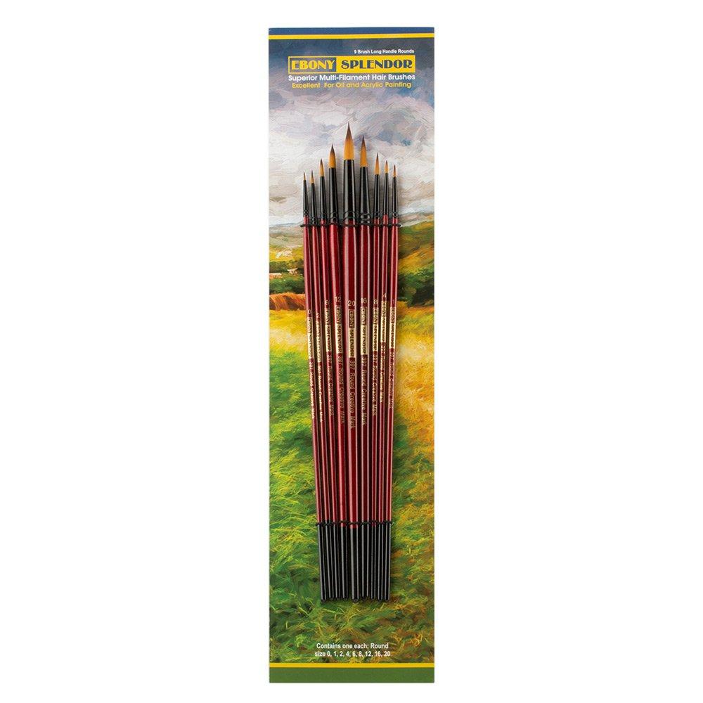 Ebony Splendor Brush Long Handle Round Set Creative Mark Ebony Splendor