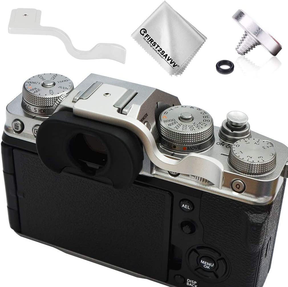 Silver Metal Thumbs Up Grip Thumbs Up Grip Hand Grip Shutter Release Button Compatible with Camera Fuji Fujifilm X-T4 XT4