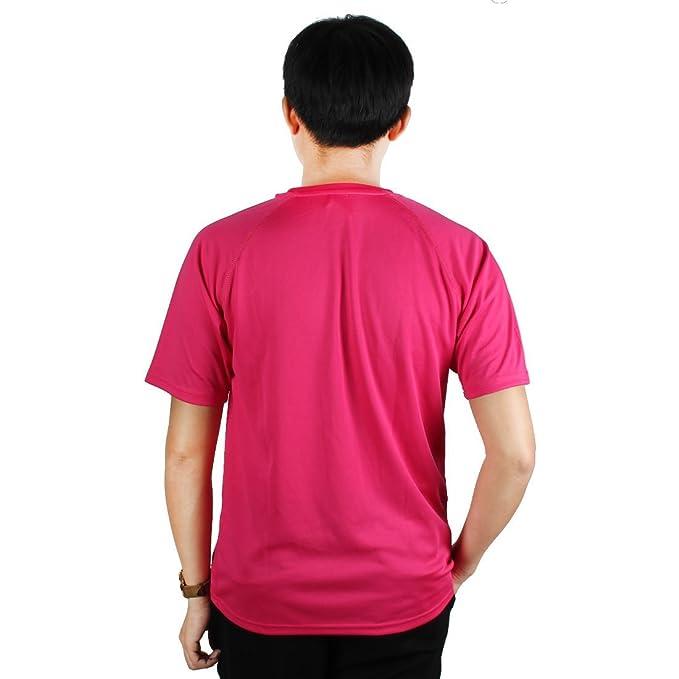 Amazon.com : eDealMax Hombres maratón al aire Libre, de poliéster, de compresión de secado rápido Top de Manga Corta Deportes Camiseta, 3XL / XL (Los 48) ...