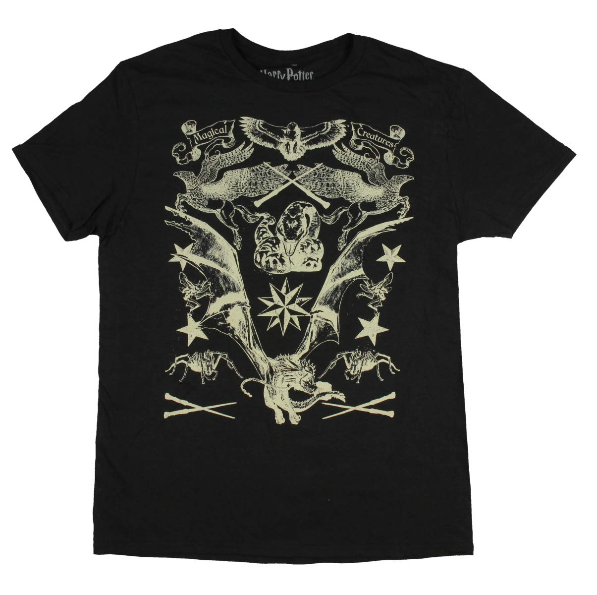Harry Potter Shirt Magical Creatures Hippogriff Dragon Acromatula Nagini Sketch Drawings T