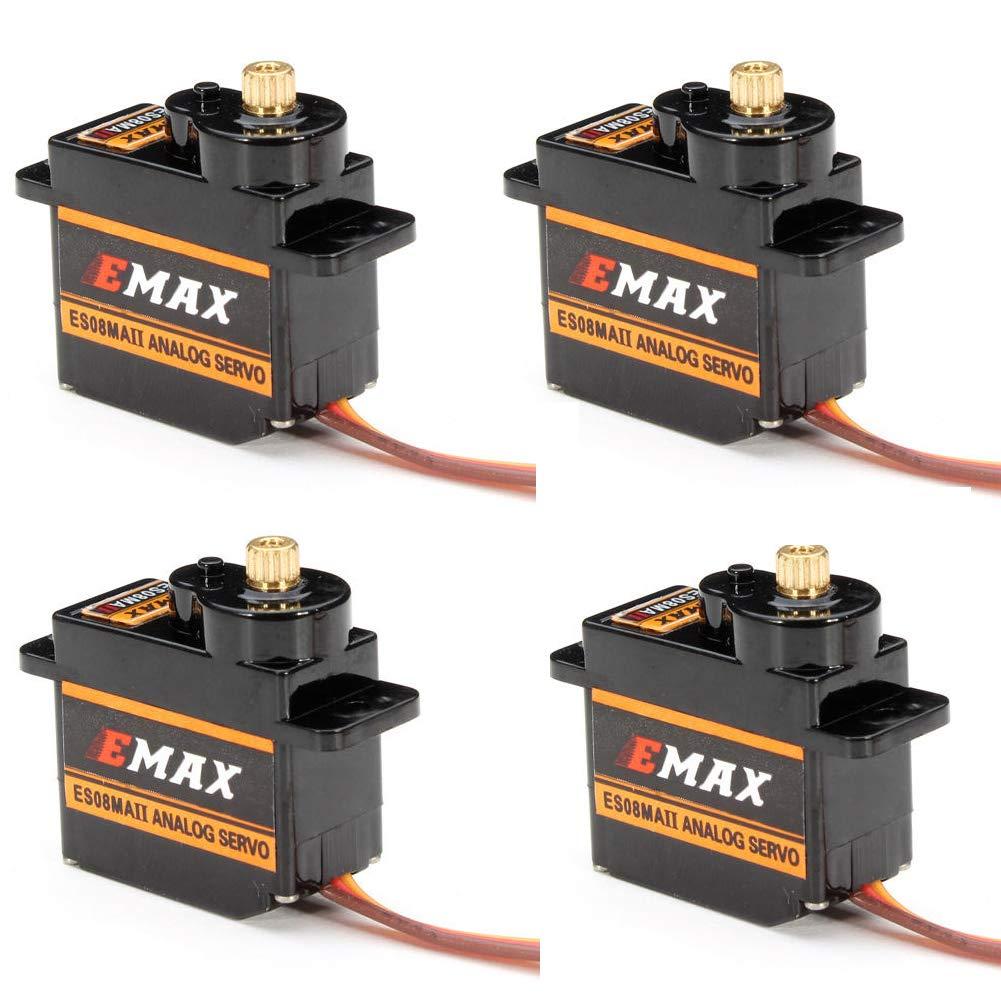 EMAX ES08MA II 12g Mini Metal Gear Analog Servo for RC Model (Pack of 4)