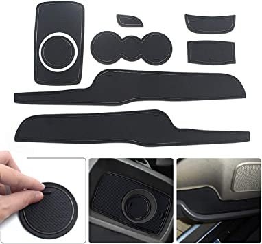Custom Gate Slot Pad Cup Holder Pads Door Groove Mat Center Organizer Storage Box Non-Slip Silica Liner Red 12pcs for Mazda 3 Axela 2014-2017