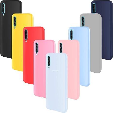 ivencase 9 × Funda Samsung Galaxy A70, Carcasa Fina TPU Flexible Cover para Samsung Galaxy A70 (Rosa Gris Rosa Claro Amarillo Rojo Azul Oscuro Translúcido Negro Azul Claro): Amazon.es: Electrónica