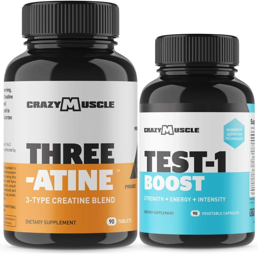 Bundle for Faster Muscle Recovery 2 Products Included – Creatine Test-1 Boost