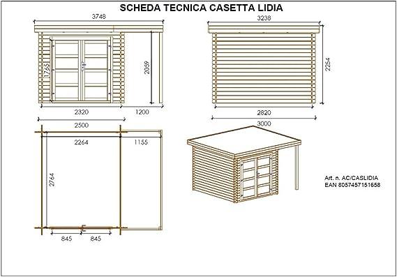 Salón Tienda Online Casa Lidia Madera impregnada ACORD 361X300X225H: Amazon.es: Jardín