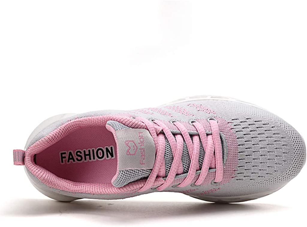 Vickyleb Walking Sneakers for Women,Womens Slip on Sneakers Fashion Lightweight Running Shoes Casual Athletic Shoes