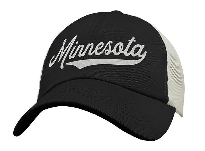 823d900b83b Amazon.com  State of Minnesota Trucker Hat Baseball Cap - Snapback Mesh Low  Profile Unstructured Sports - MN USA  Handmade