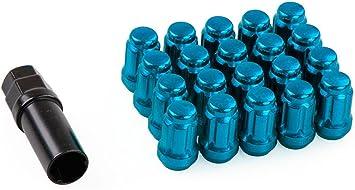 Muteki 32906T Titanium Lug Nuts 12x1.5 90mm Tall Black Stud Conversion For BMW