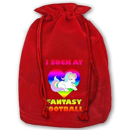 df9524e7bdc Amazon.com  Arnold Glenn Unicorn Suck at Fantasy Football Bags for ...