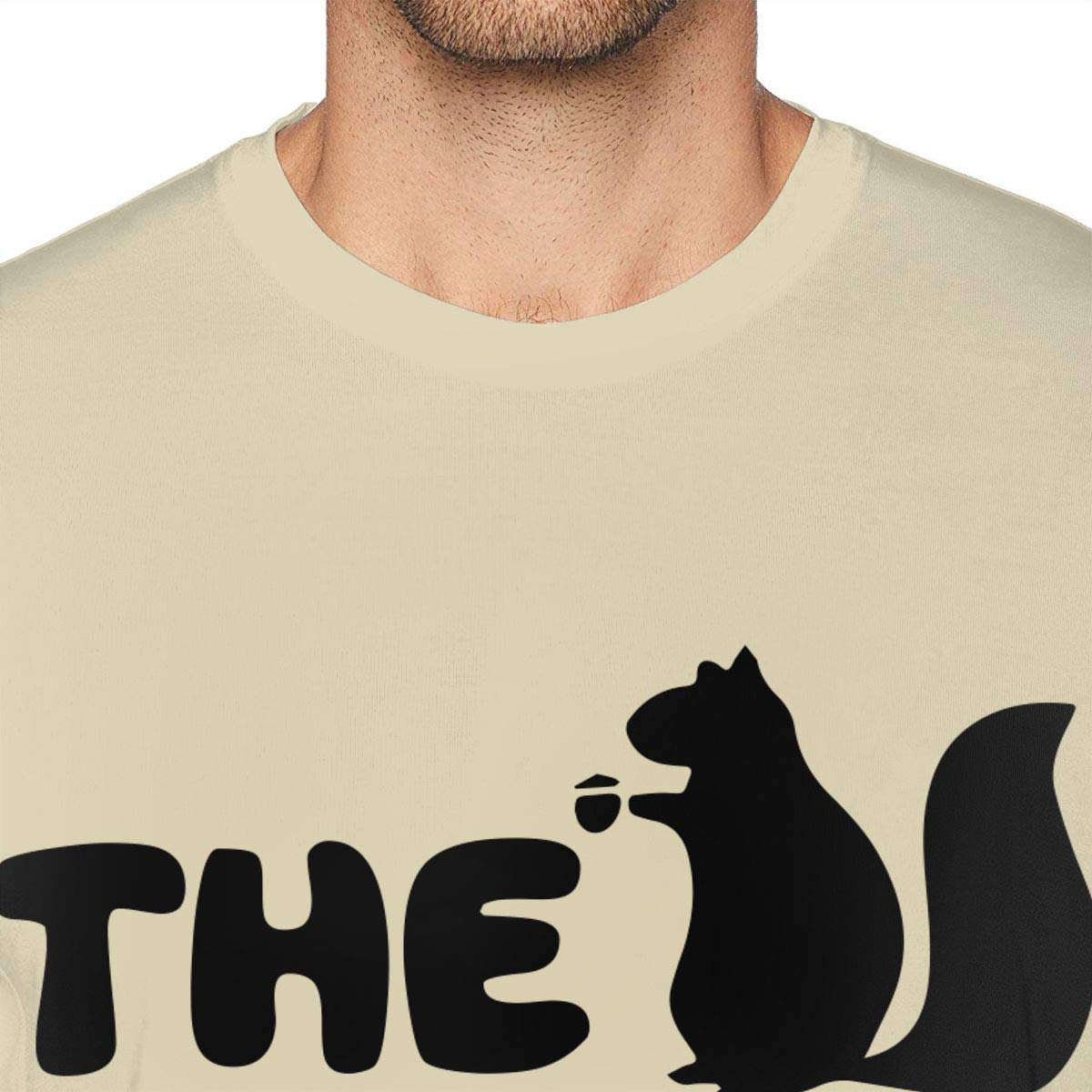 MSKKLA The Squirrel Whisperer Funny T-Shirt Men Comfortable Short Sleeves T-Shirts Tee Shirts Size:S-6XL