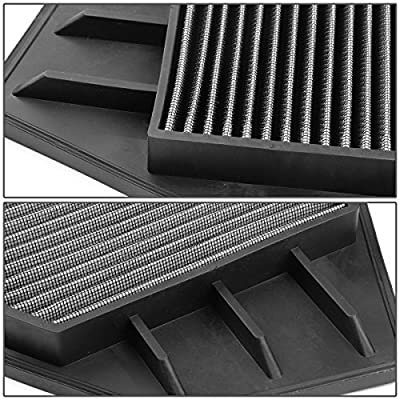 Replacement for Honda Accord/Crosstour 2.4L Reusable & Washable Replacement High Flow Drop-in Air Filter (Silver): Automotive
