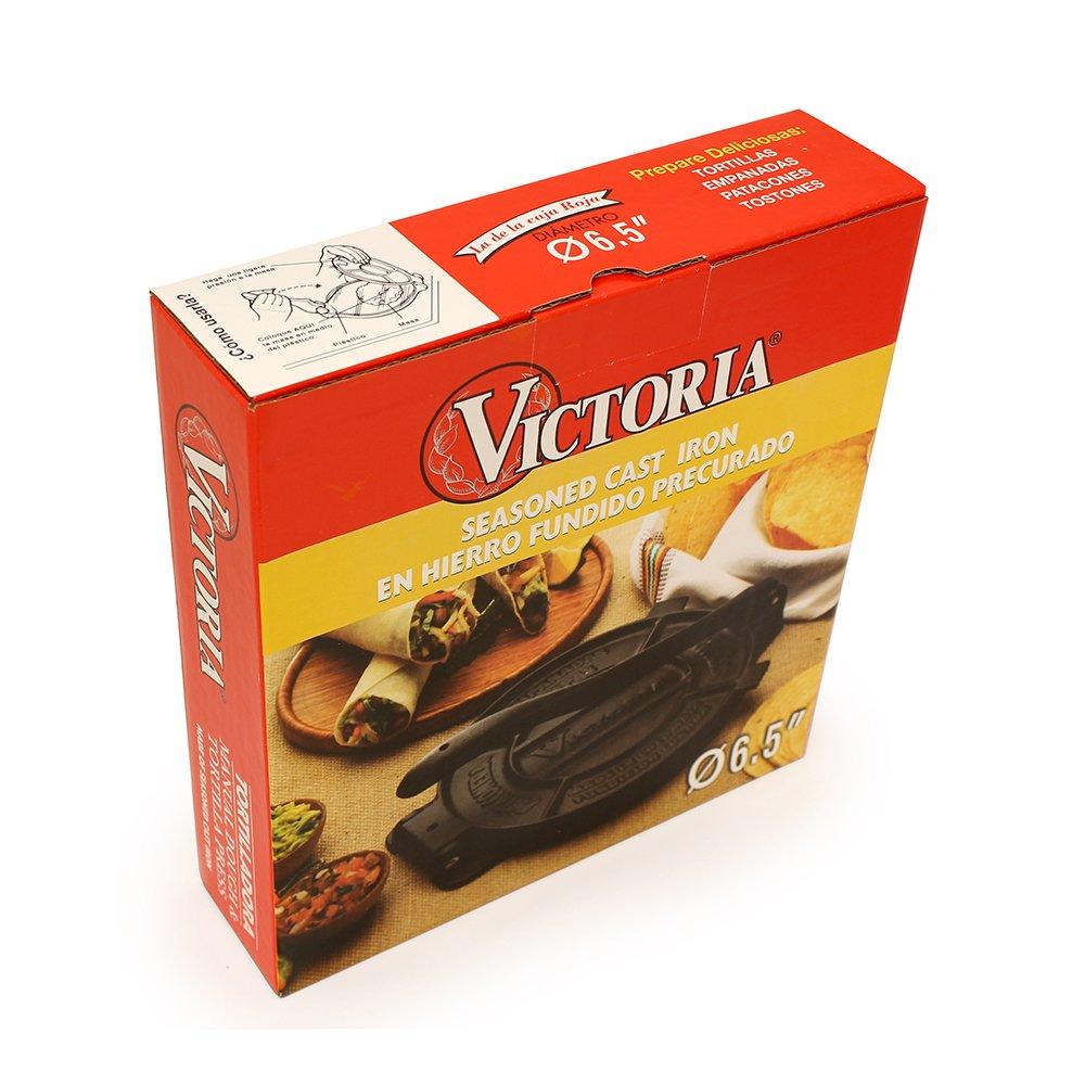 Victoria 6.5 inch Cast Iron Tortilla Press and Pataconera Original Made in Co...