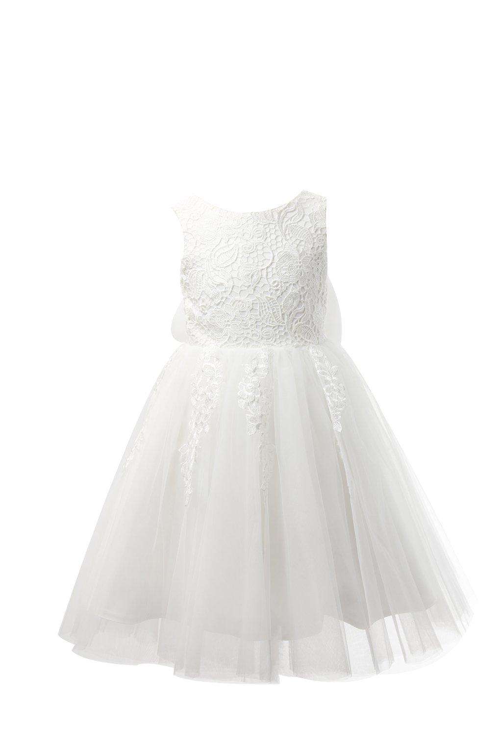Miama Ivory Lace Tulle Wedding Flower Girl Dress Junior Bridesmaid Dress