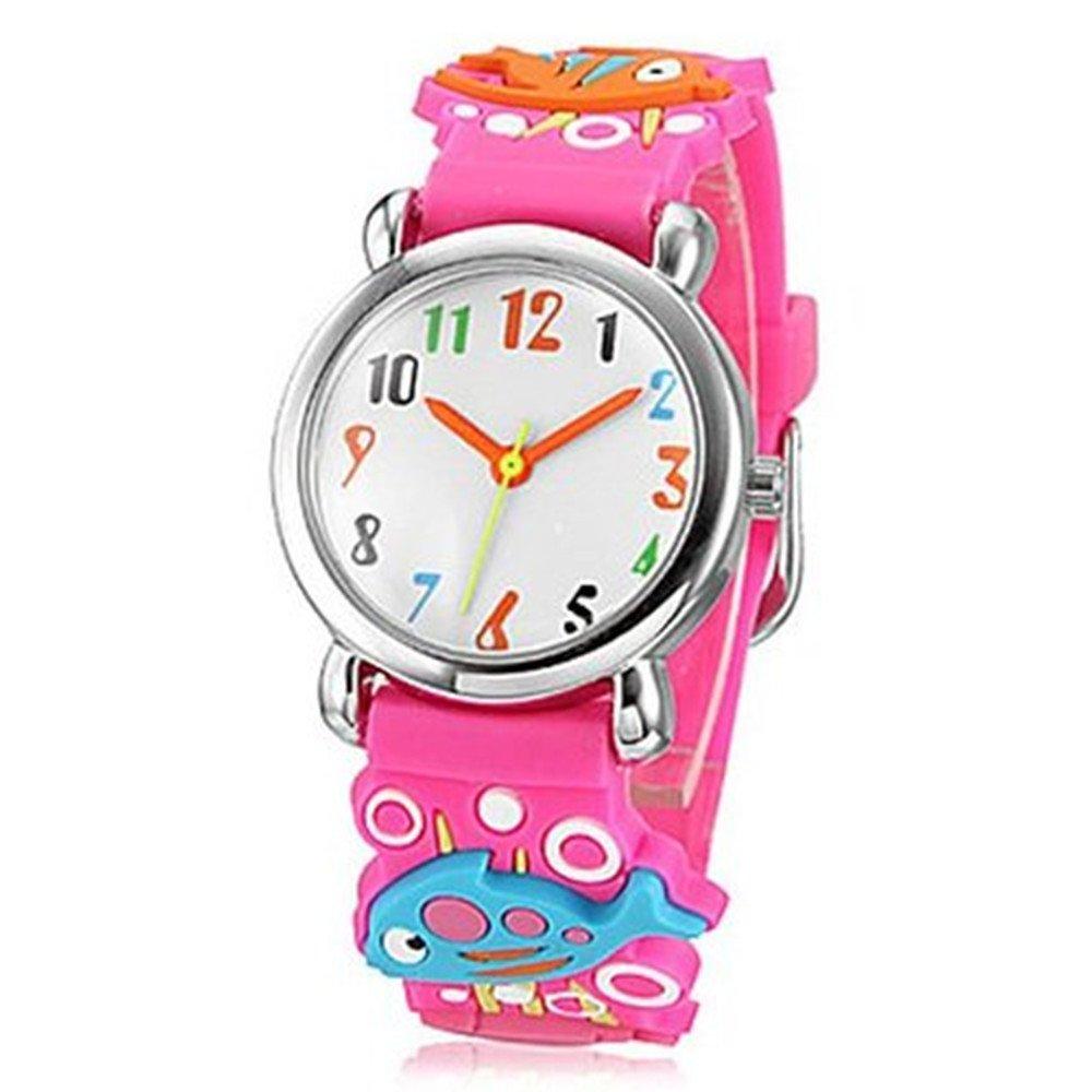 Fashion Brand Quartz Wrist Watch Baby Children Girls Boys Watch Fish Pattern Waterproof Watches