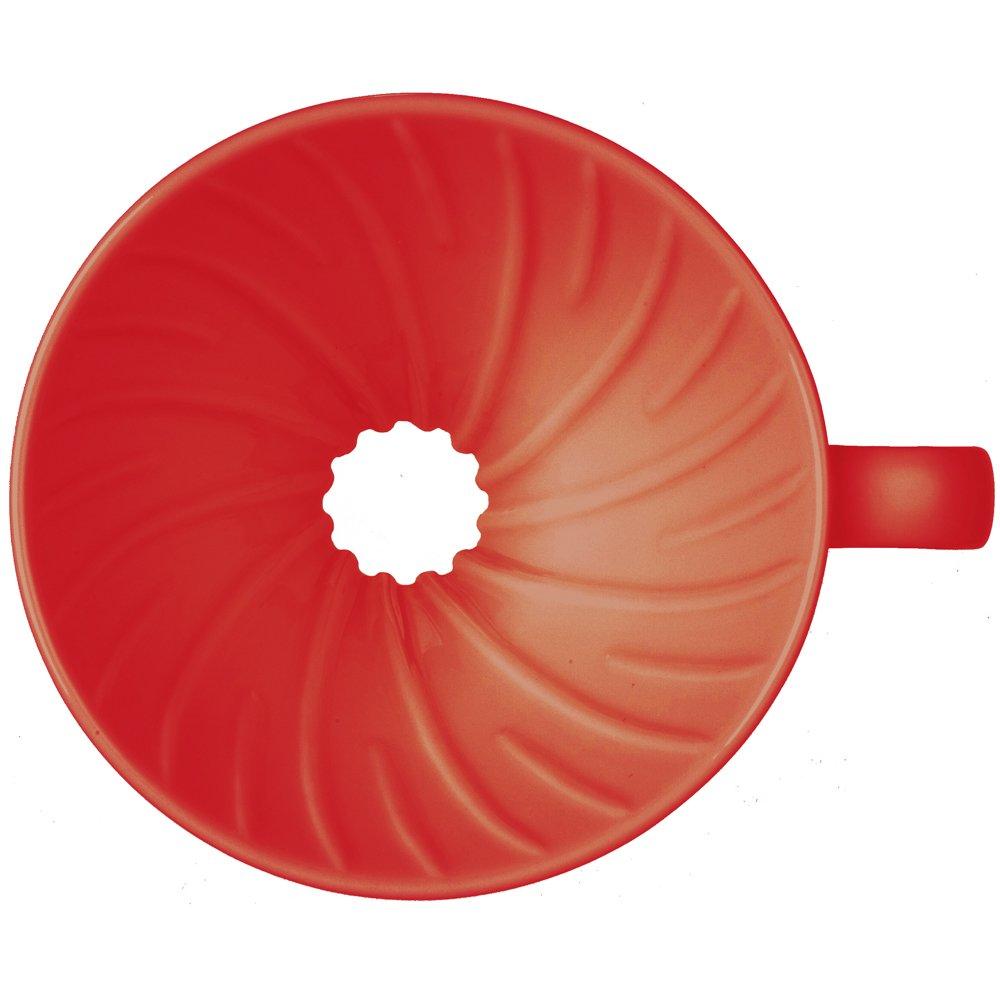 Hario Vdc 01r Ceramic Coffee Dripper Red Tea Espresso V60 Server Kit Vcsd 02 R
