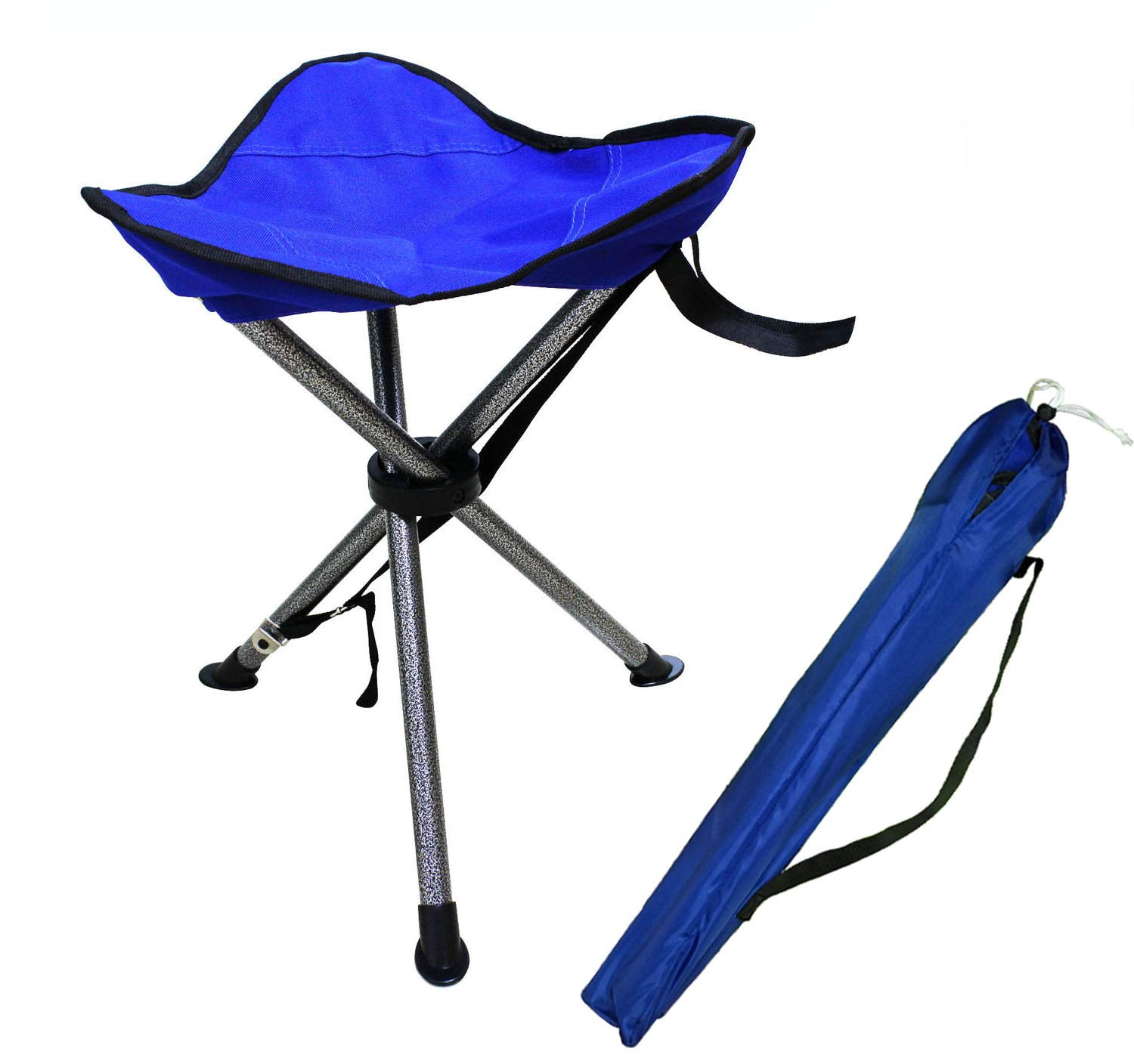 JSHANMEI Portable Tripod Stool Folding Chair with Carrying Case for Outdoor Camping Walking Hunting Hiking Fishing Travel, 270 lbs. Capacity