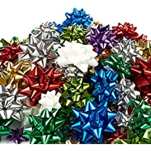 120-Count Gift Wrap Bows - Includes Large, Medium, Small Sizes - Perfect for Christmas - Peel and Stick, Assorted Colors