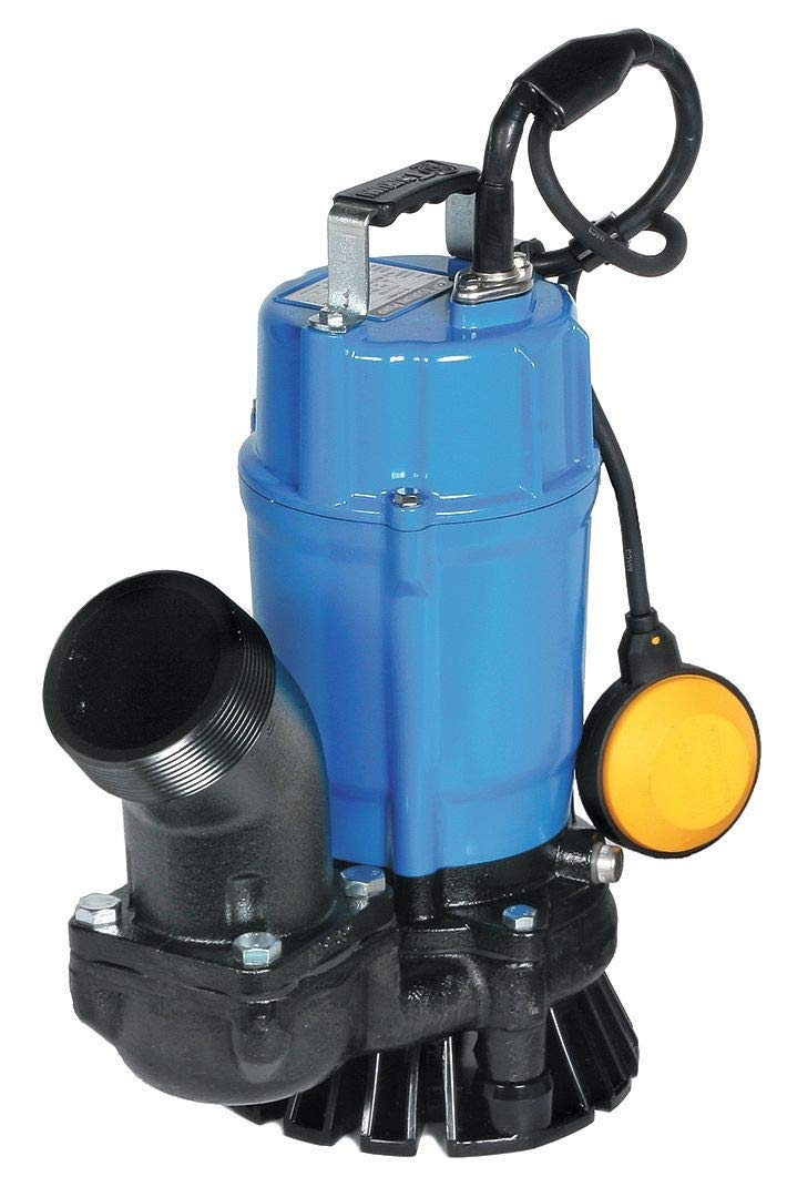 "Tsurumi HSZ3.75S; Float Operated semi-Vortex Submersible Trash Pump w/Agitator, 1hp, 115V, 3"" Discharge"