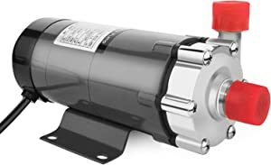 """NestEcho Magnetic Drive Pump Home Brewing Beer Wort Pump Water Circulation Pump 110V US Plug Magnetic Pump 15R Stainless Head 1/2""""NPT Thread with Stainless Steel Head(MUST not run pump dry)"""