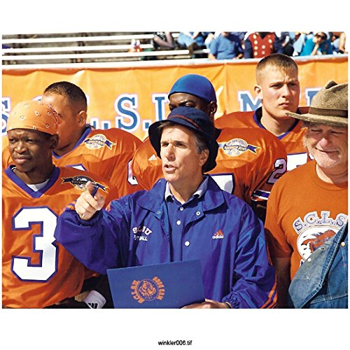 (The Waterboy Henry Winkler As Coach Klein, on Sideline with Players 8 X 10 Inch Photo)
