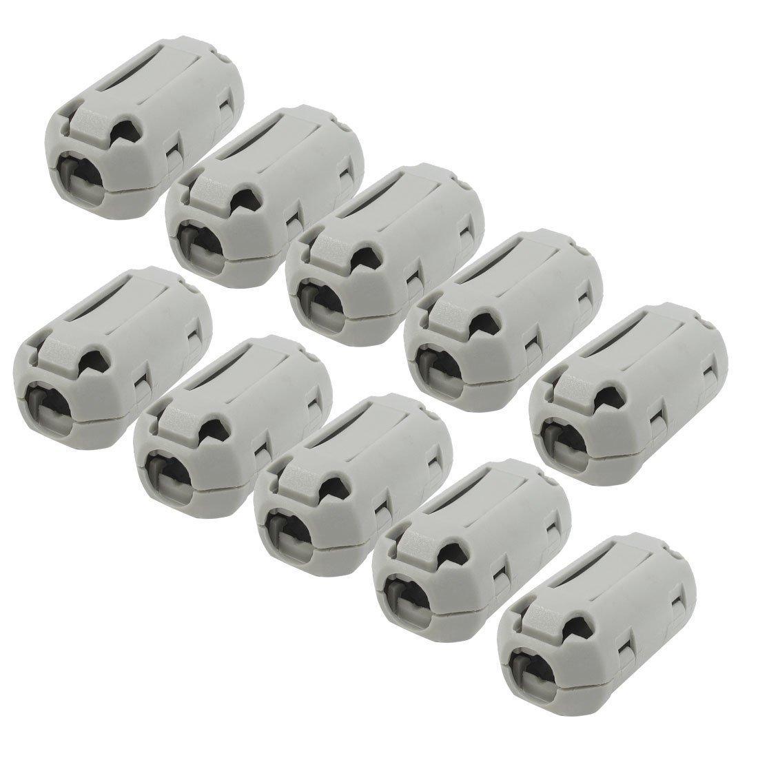 TOOGOO(R) UF70B Filtro De Ruido Ferrita Clip para 7mm Diametro Audio Vedio Cable 10 Piezas