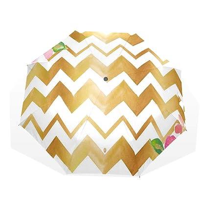 ebfb4875e1ba Amazon.com: HangWang Umbrella Gold Letters Love with Arrow Chevron ...
