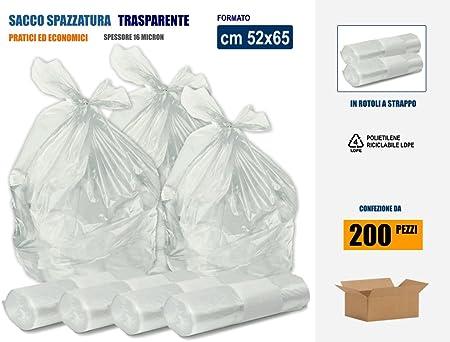 PGV Sacchetti da pavimento LDPE//DOYPACKS trasparenti 100 pezzi, 85 x 140 mm