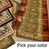 Marash Luxury Collection 25' Stair Runner Rugs Stair Carpet Runner with 336,000 Points of Fabric per Square Meter, Sage