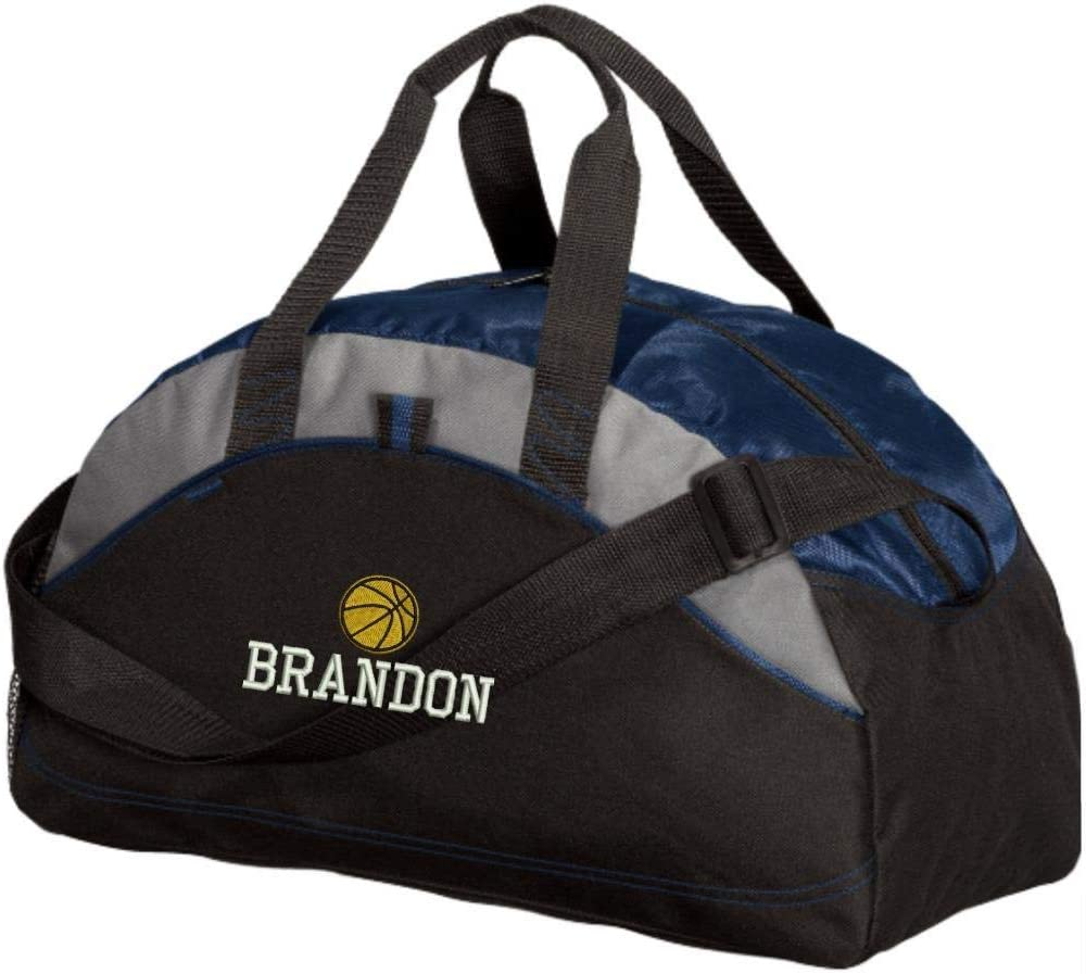 Red Embroidered Personalized Basketball Player Team Duffel Gym Bag