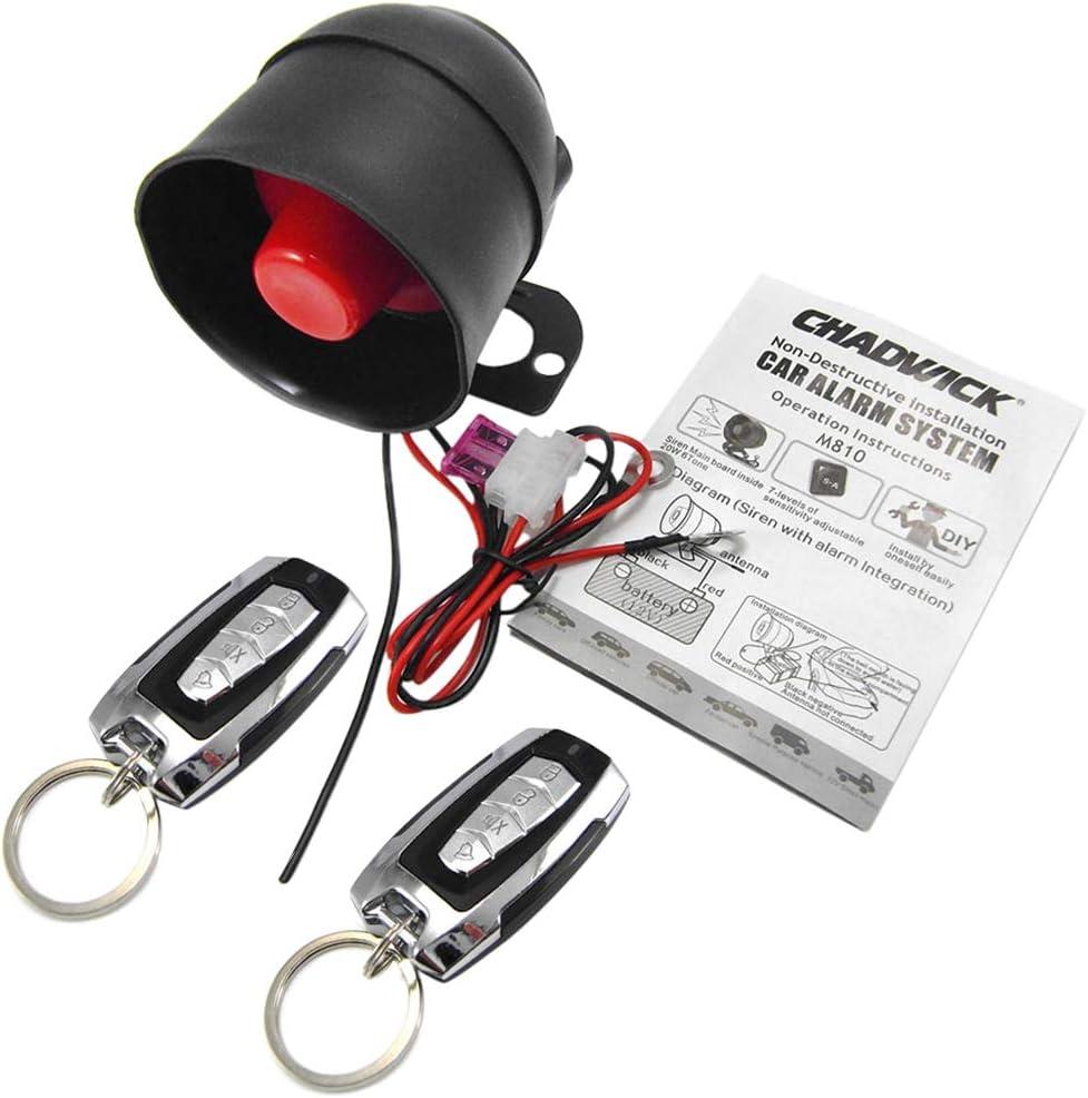 Perfk Auto Alarmanlage Sicherheitssystem 2 Wege Auto Elektronik