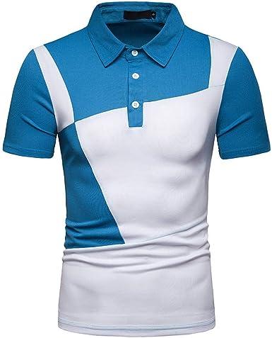 waotier Camiseta De Manga Corta para Hombre De Moderno Camiseta Solapa Casual con Dos Colores De Verano Ropa Hombre: Amazon.es: Ropa y accesorios
