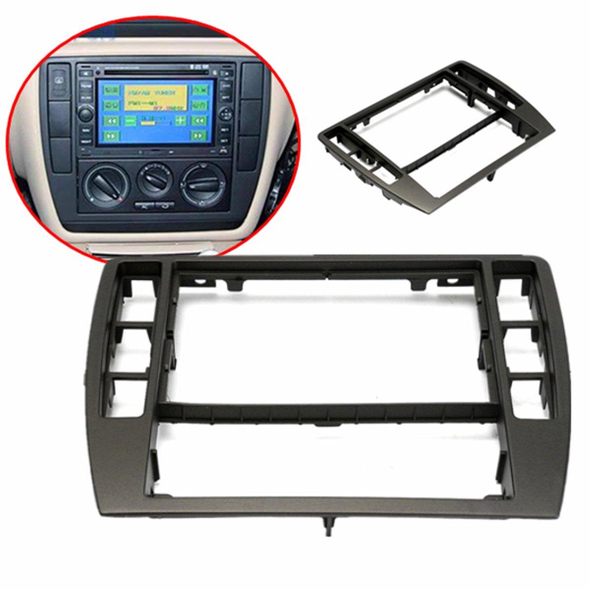 GOZAR Panel De Radio De La Consola De Frame Center Para 2001-2005 Vw Passat B5