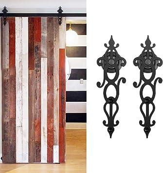 Hahaemall Vintage antiguo sola puerta corrediza de granero ...