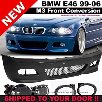 Amazon Com Bmw E46 99 05 M3 Style Front Bumper Fluted Fog