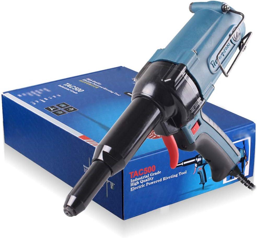 LZHJ Pistola de Remache eléctrica, Herramienta de remachado de Pistola de Remache Herramienta eléctrica para Remaches 3.2-5.0mm