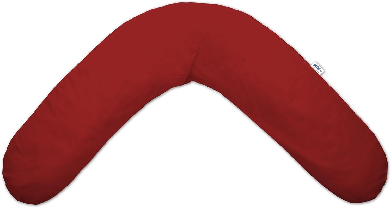 TheraLine Stillkissenbezug Design Uni Rot 28