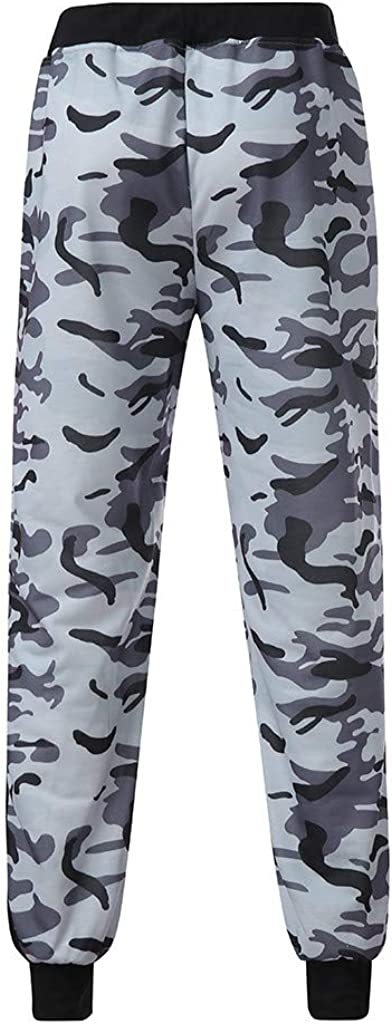 Koolsants Mens Casual Jogger Sweatpants Camouflage Pocket Drawstring Camo Pants Trouser