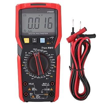 Detecci/ón Profesional de NVC Prueba de LED Voltaje Hasta 1000V Corriente Hasta 20A NVC Multimetro UT89XD Multimetro Digital con Pruebas de Templanza