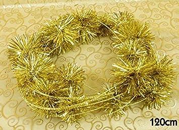 Weihnachtskugel Kugel Weihnachten Draht Pompom Gold Deko Dekoration ...