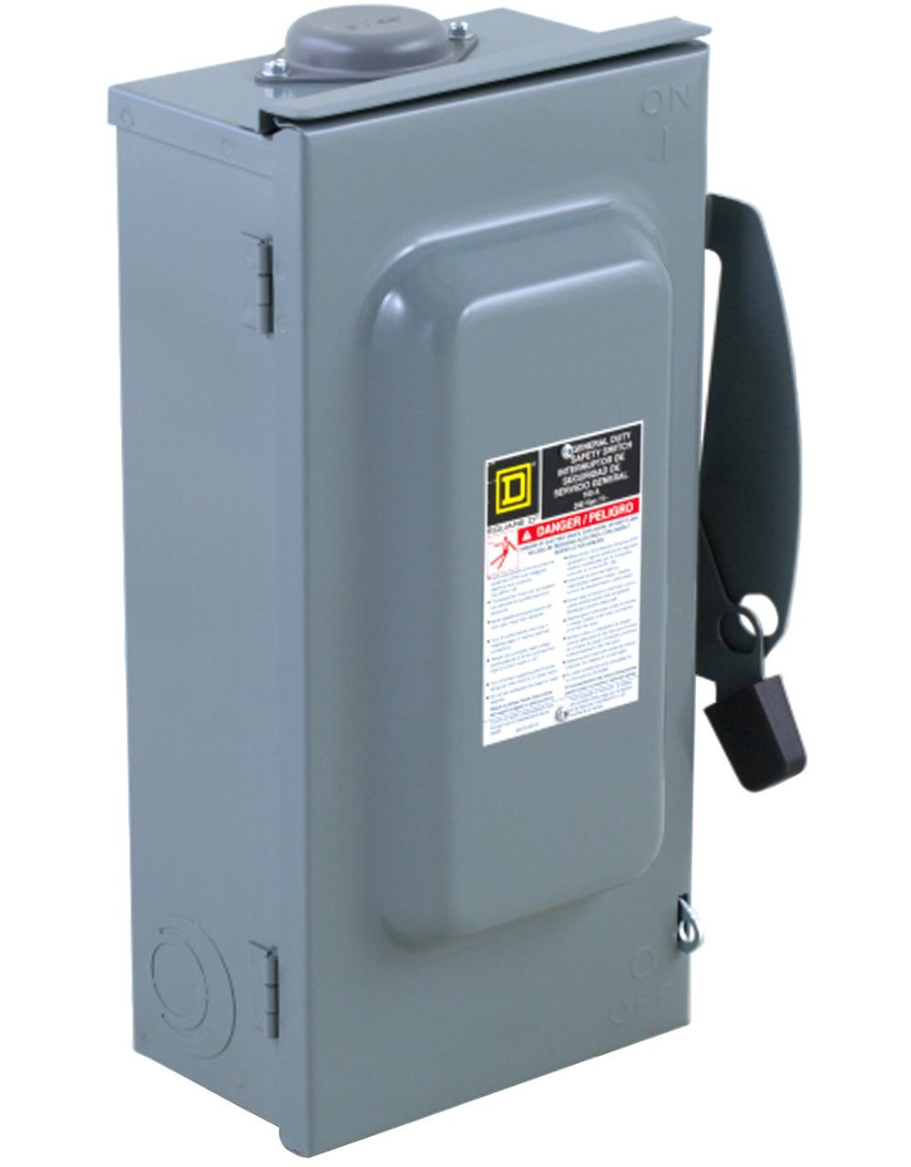 Square D by Schneider Electric D323NRB 100-Amp 240-Volt 3-Pole Fusible Outdoor General Duty Safety Switch, ,