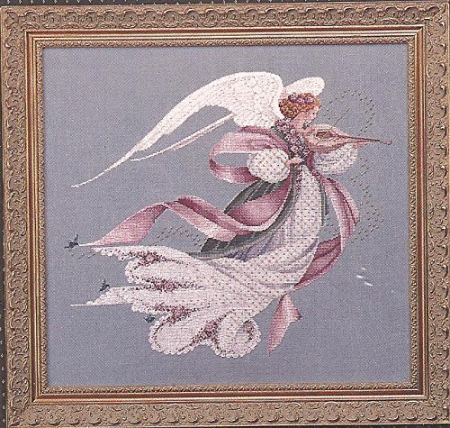 (Angel of Spring - Lavender & Lace Victorian Designs Counted Cross Stitch Chart L&L23)