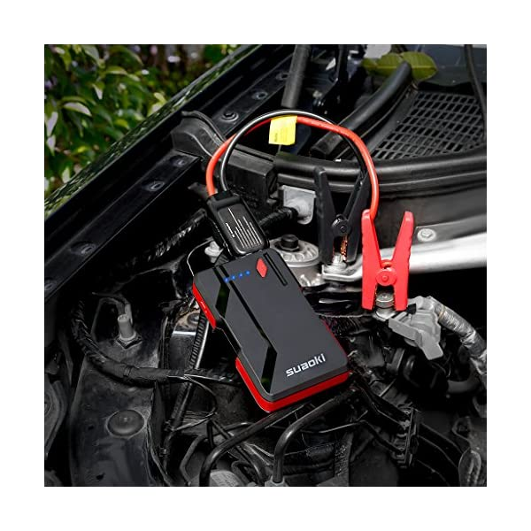 Suaoki P4 500A Peak Jump Starter Car Battery Booster Up To 50L Gas Or 20L Diesel Engines And Power Packs With QC 30 Type C 5V3A Port