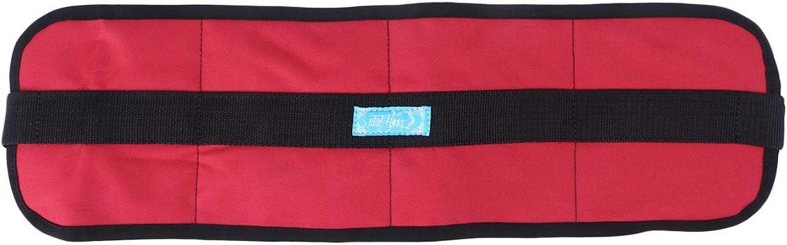 SUPVOX Silla de ruedas Cinturón de seguridad Correas de sujeción Pacientes Cuidados Arnés de seguridad Cinturón Silla Asiento Cintura Cinturón de regazo para ancianos Rojo