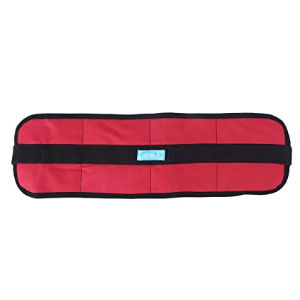 Healifty Cinturón de Seguridad de Abdominal Ajustable para Silla Ruedas para Pacientes Ancianos (Rojo)