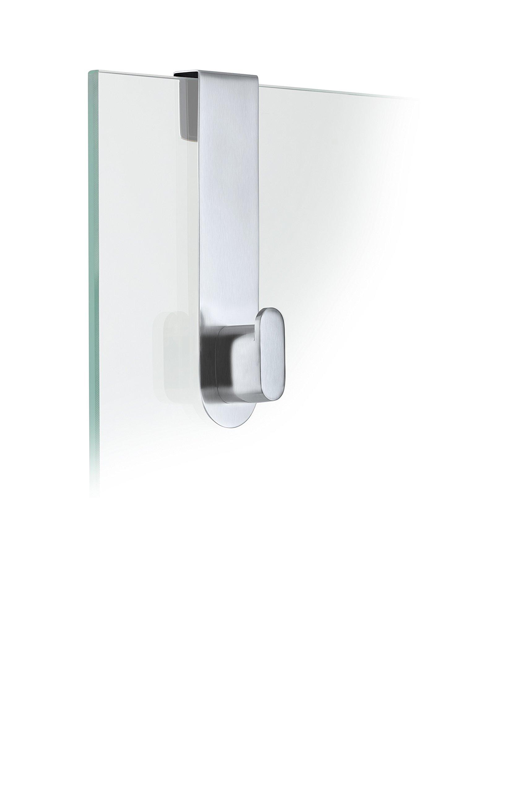 Blomus 68905 Areo Glass Door Shower Hook, Brushed by Blomus (Image #1)