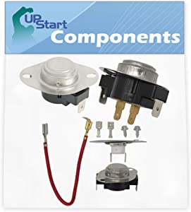 3390291 Thermostat, 3387134 Cycling Thermostat & 279816 Thermostat Kit Replacement for Whirlpool LTE6234DQ1 Dryer - Compatible with WP3390291, WP3387134 & 279816