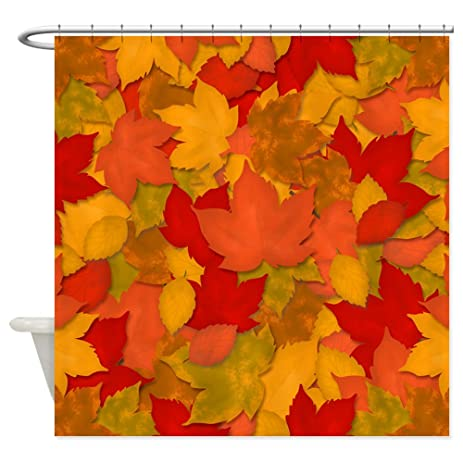 CafePress   Fall Or Autumn Leaves Shower Curtain   Decorative Fabric Shower  Curtain