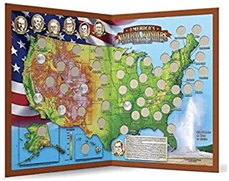 Americas Natural Wonders National Park Quarters Collection Map ...