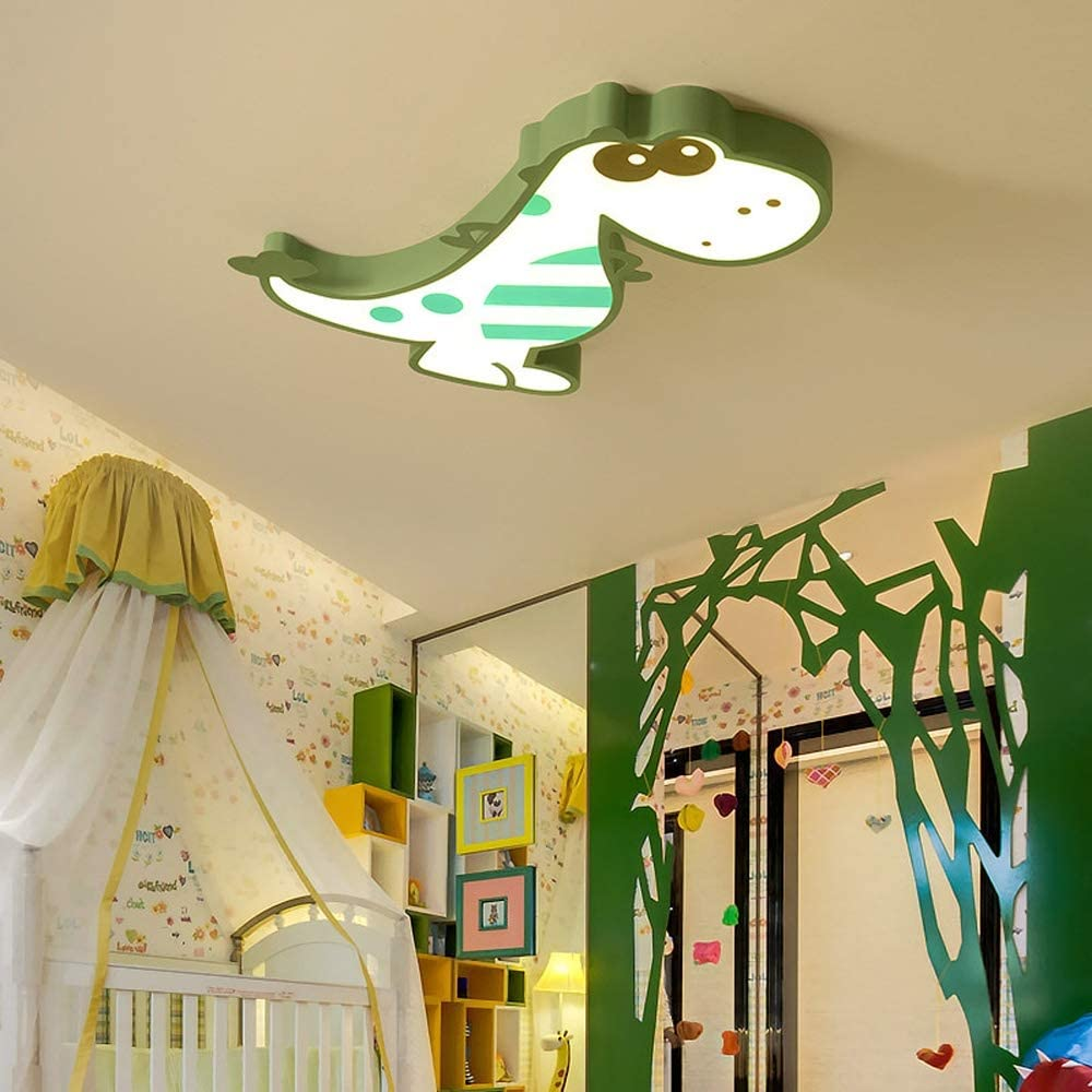 Dinosaur Ceiling Lamp Children Bedroom Light Chandelier, Creative